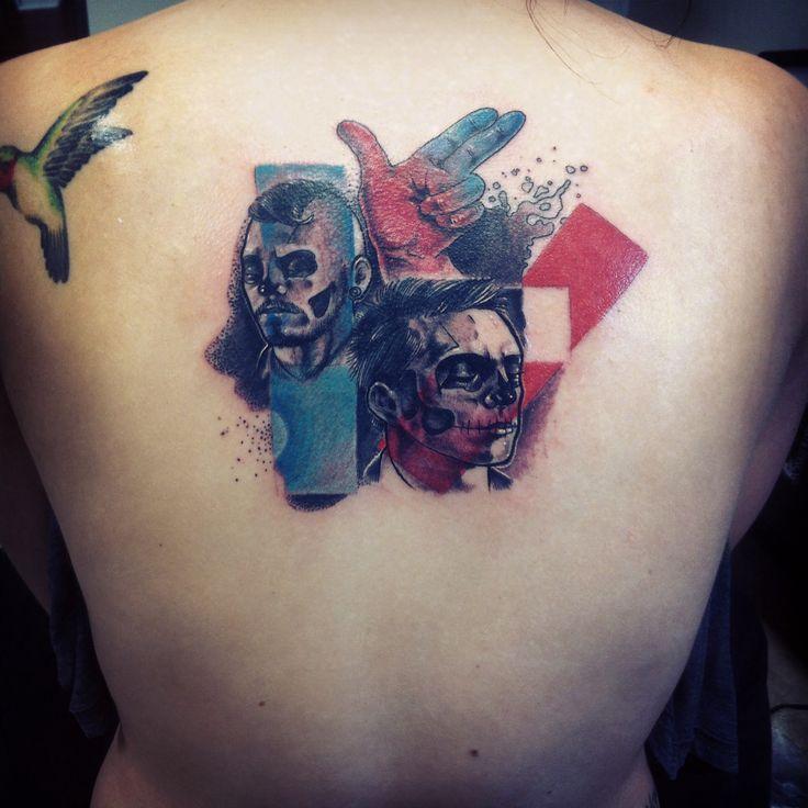 Twenty one pilots tattoo by Ken Tackash