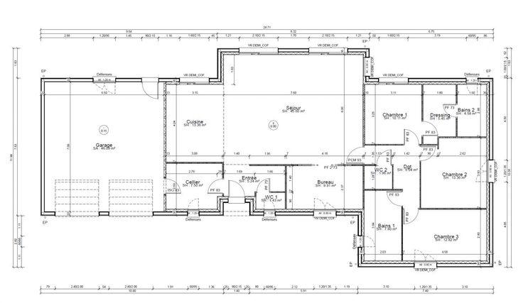 Plan définitifs pour le permis de construire