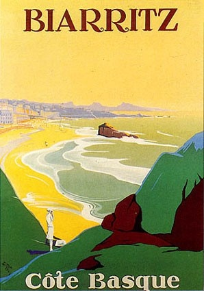 biarritz Breaking my own rules about posting travel posters. Date and artist are a must!