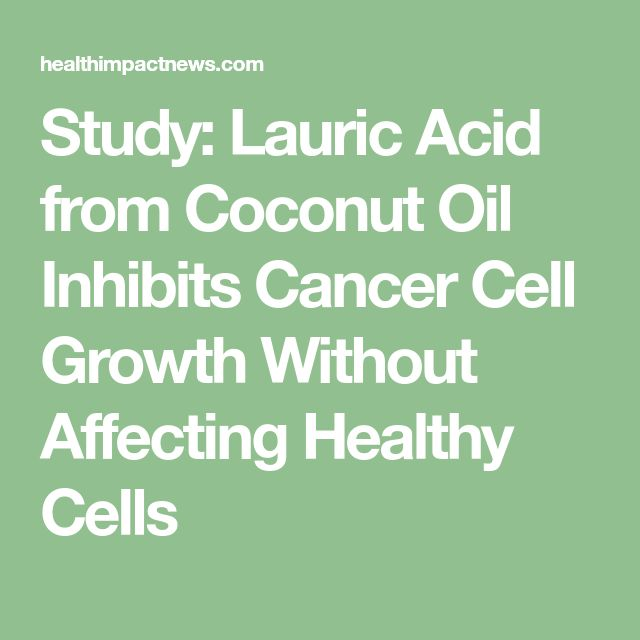 Study: Lauric Acid from Coconut Oil Inhibits Cancer Cell Growth Without Affecting Healthy Cells
