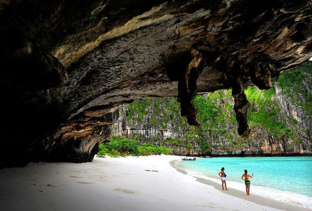 Maya Bay on Ko Phi Phi Leh. Thailand.