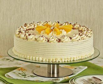 Wielowarstwowy tort pomarańczowy