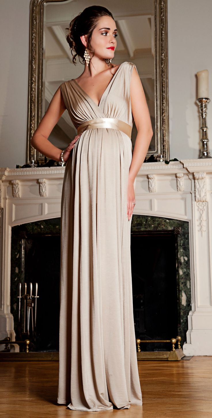 Anastasia Maternity Gown (Gold Dust) | Tiffany Rose