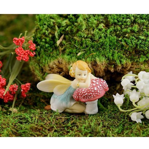 Miniature Dollhouse FAIRY GARDEN Accessories Resting Fairy