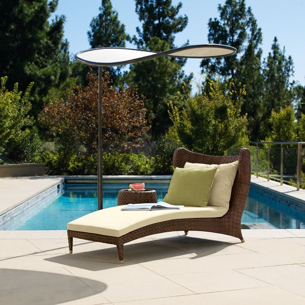 Papillon Collection   Contoured Chaise With Sun Wing