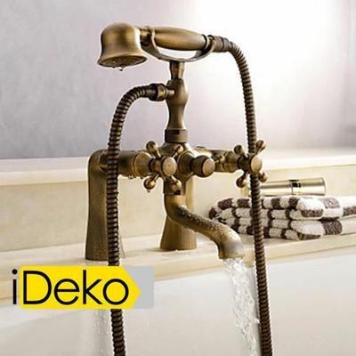 iDeko®Robinet Mitigeur baignoire lavabo salle de bain design rétro  téléphone & Flexible –Vendu exclusivement par Maison Claire  Specification  Modèle de fonction :Mitigeur