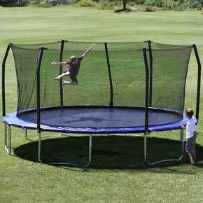 Skywalker Trampolines 17' Oval Trampoline with Enclosure - Blue : Target