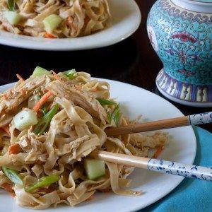 Cold Sesame Noodles Chicken Salad