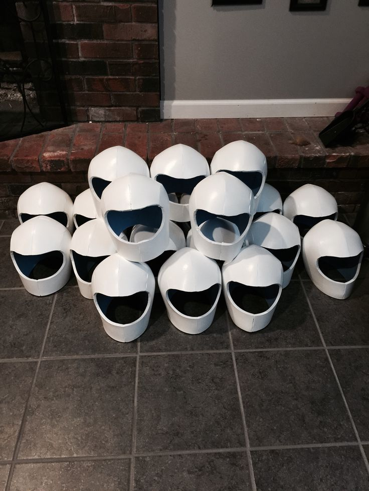 Made these space helmets out of foam for our space unit for What is outer space made of