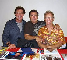 The Brady boys all grown up -- Actors Barry Williams, Christopher Knight and Mike Lookinland at the Big Apple Convention in Manhattan, October 1, 2010