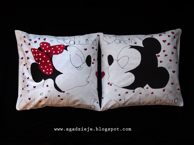 agadzieje: Zakochane Myszki ( malowanie na tkaninie )