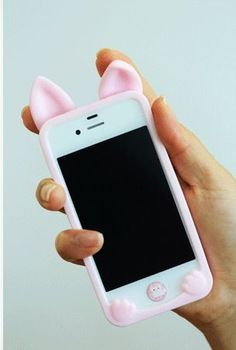 3D cute Ear Cat Case rubber silicone cartoon phone cases covers For iphone 4 4s HOT iPhone Covers Online Price: $ 11.49