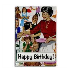Happy birthday fridge magnet with fifties retro styling.: Birthday Fridge, Happy Birthday, Magnets Birthday, Bday Stuff