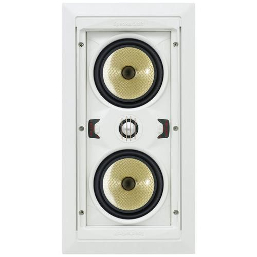 """SpeakerCraft - AIM LCR 5 Dual 5-1/4"""" In-Wall Speaker (Each) - Larger Front"""