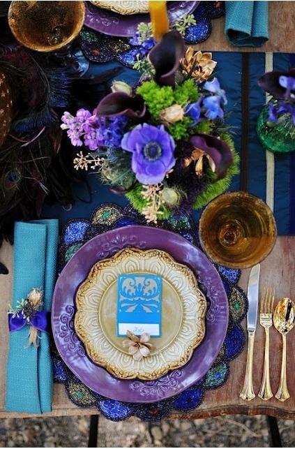 Tablescape ● Place Setting ●  Purple