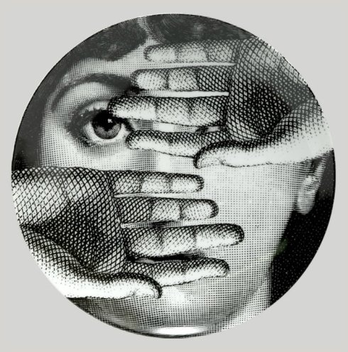 17 best images about lina cavalieri on pinterest italian beauty postcards and face collage - Fornasetti faces wallpaper ...