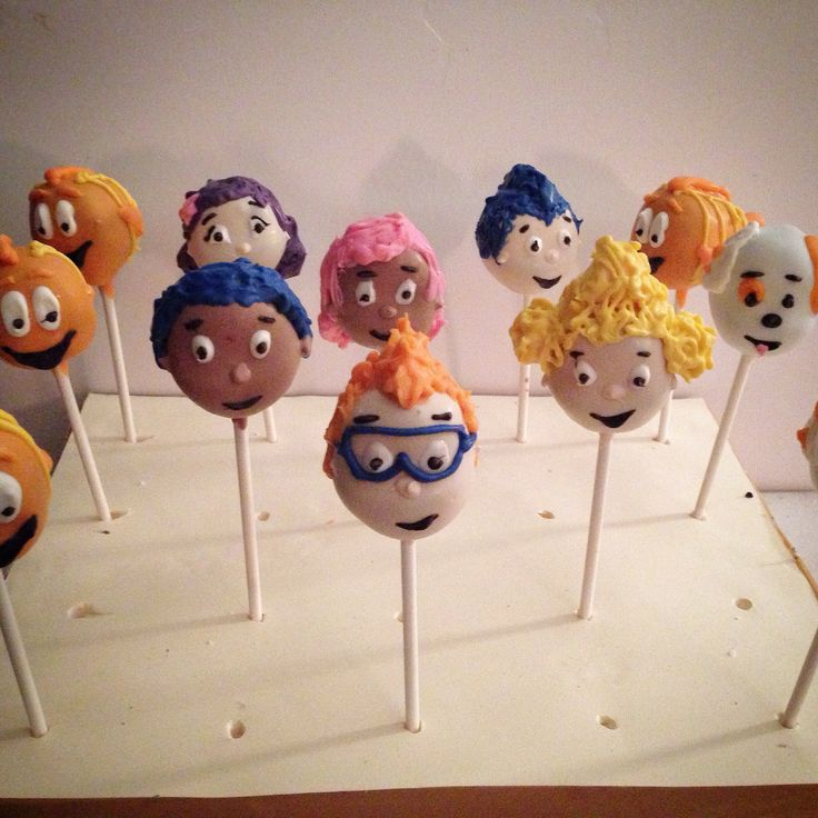 Decorating Cake Pops Uk : 1000+ images about Bubble Guppies Cake Pops on Pinterest ...