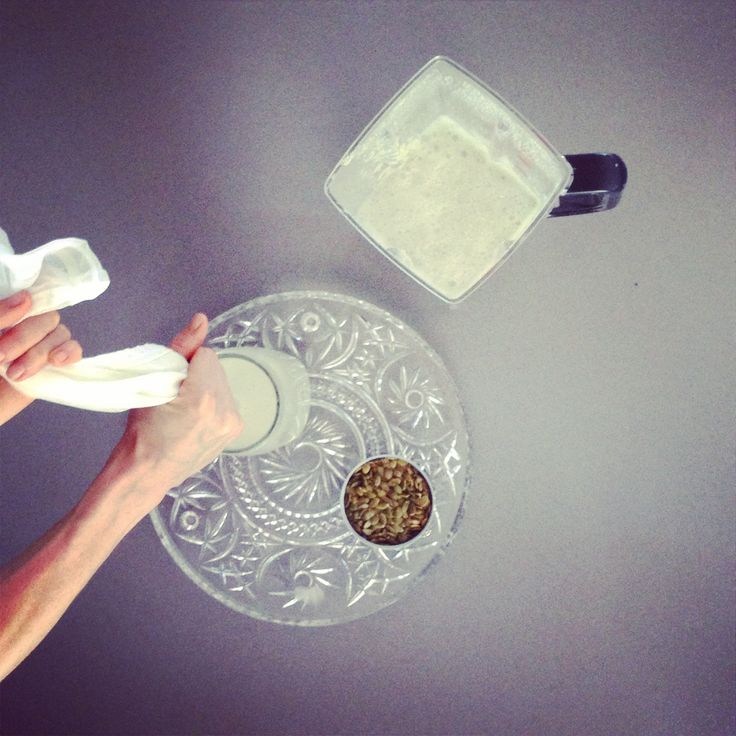 Got (SANE) Milk?? Soak 1 cup pumpkin seeds in 4 cups filtered water. Leave o/night. Drain & re-combine soaked seeds in 4 cups fresh filtered water & blend on high. Strain into an airtight jar through muslin or nut bag. Save pulp & create SANE cookies! Store milk in fridge for 4 days (if it lasts that long!). Serve chilled