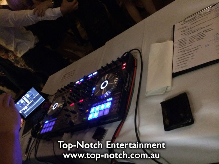 Wedding DJ equipment setup