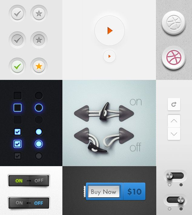 Button UI Elements:
