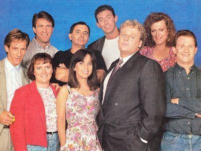 25 years since we met Kylie Mole »  The Comedy Company cast in 1988 — Kim Gyngell, Siobhan Tuke, Glenn Robbins, Ian McFadyen, Maryanne Fahey, Peter Rowsthorn, Mark Mitchell, Christine Keogh, Russell Gilbert.