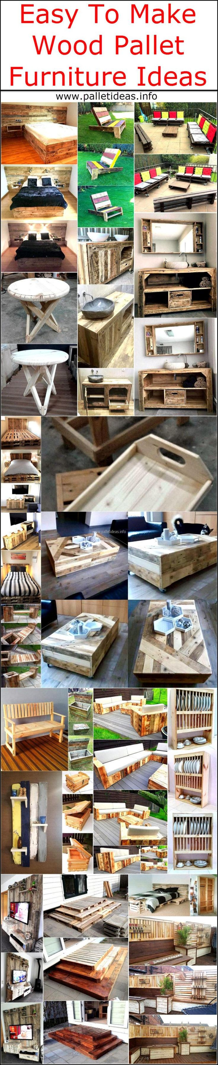 Easy To Make Wood Pallet Furniture Ideas