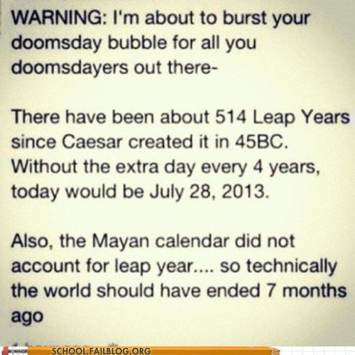 Oops! We missed it!: Thoughts, Laughing, Doomsday Preppers, Leap Years, Quotes, Bubbles, Truths, People, Calendar