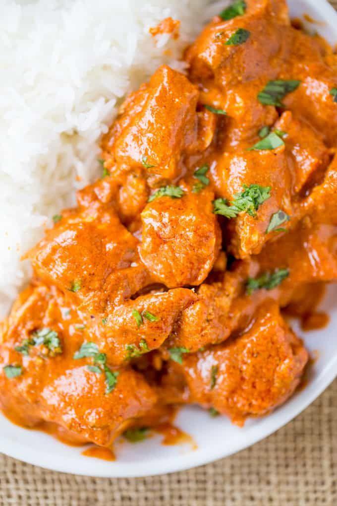 Slow Cooker Indian Butter Chicken Recipe , Dinner Then