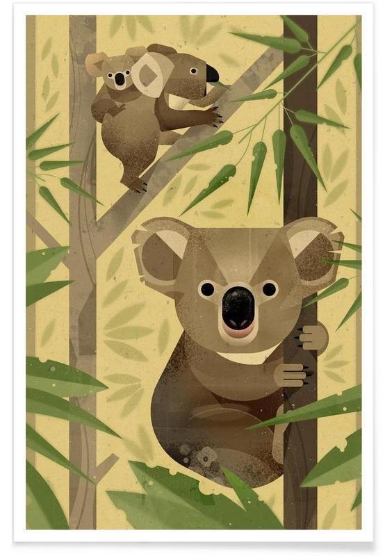 Koala as Premium Poster