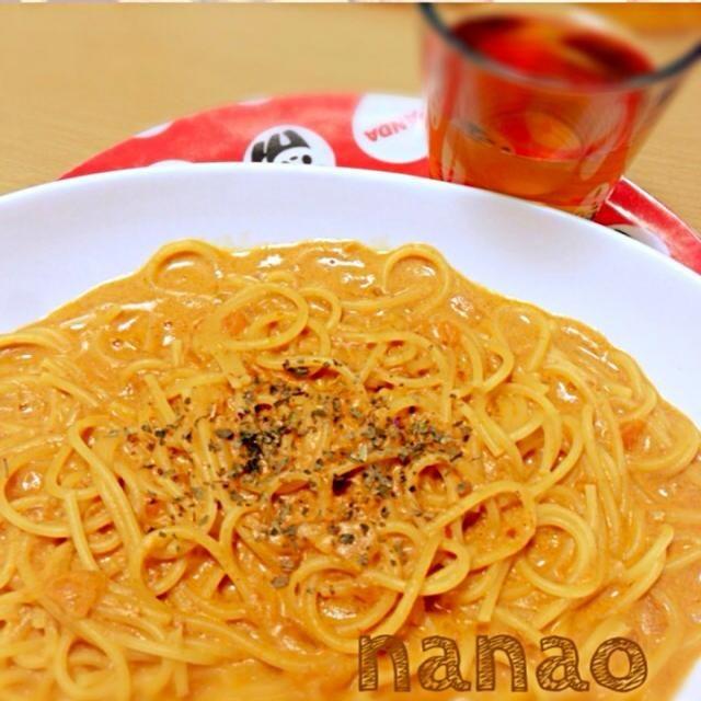 蟹缶でトマトスープ作ったので、その残りをミルクでのば〜してぇ‼‼ スープパスタにしましたぁ - 7件のもぐもぐ - 蟹トマトクリームパスタ by nanao777