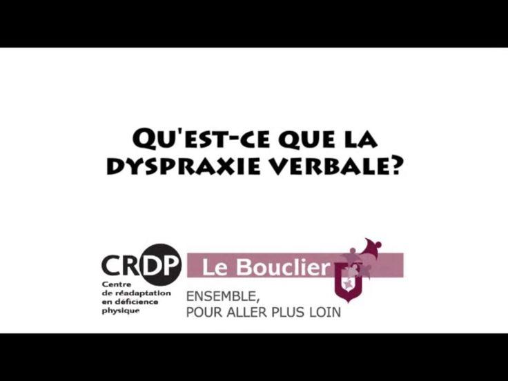 Qu'est-ce que la dyspraxie verbale? - Vidéo intéressante expliquant la dyspraxie verbale.