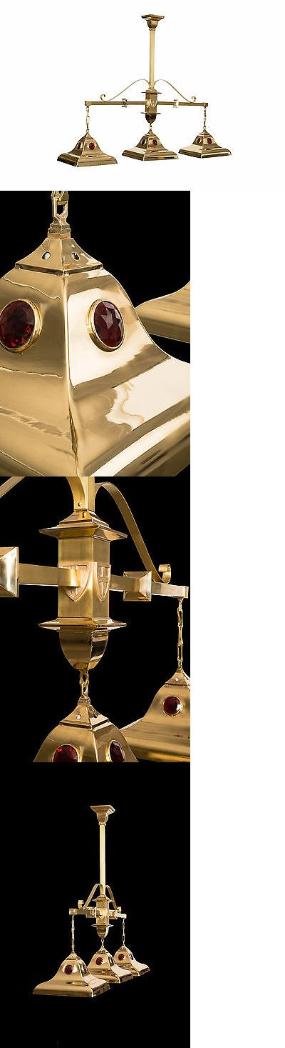 Table Lights and Lamps 75189: Pool Table Light - Brass- Traditional -> BUY IT NOW ONLY: $1995 on eBay!