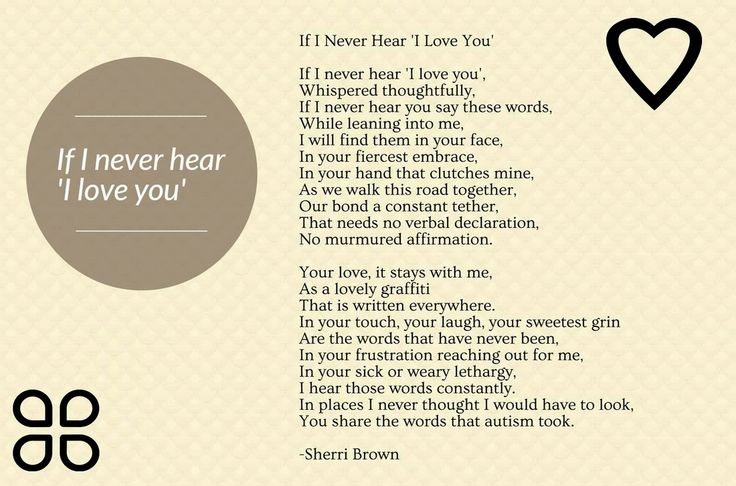 """""""If I never hear 'I love you'""""  A poem and story about being a mother to a non verbal child. #autism"""