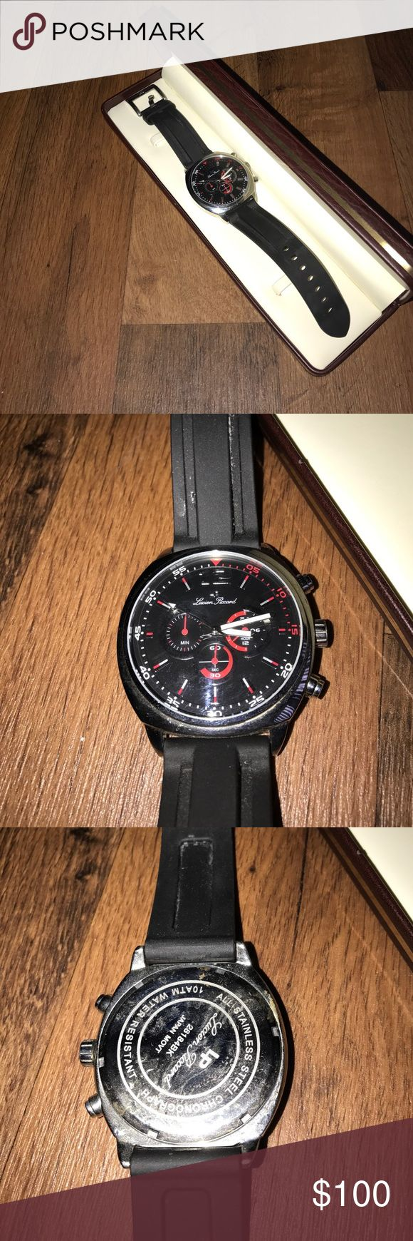 Lucien Piccard Large Face Rubber Wrist Watch Needs a new battery Lucien Piccard Accessories Watches