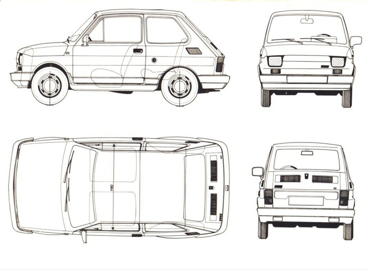 53 best car blueprints images on pinterest blues specs and car sketch fiat126bis malvernweather Gallery