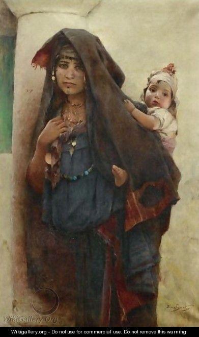 Bedouine A Tunis - Auguste Emile Pinchart