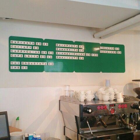 Lego coffee menu!
