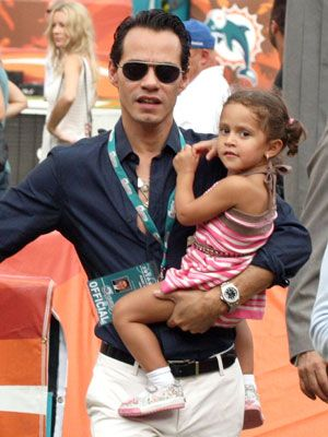 Photos: Celebrity Dads Holding Their Babies Mark Anthony and Emmie.
