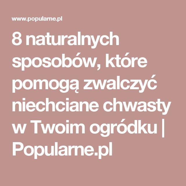 8 naturalnych sposobów, które pomogą zwalczyć niechciane chwasty w Twoim ogródku   Popularne.pl