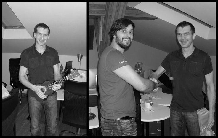 Tomáš, náš zkušený kodér, ale zároveň muzikant, který nás bavil například na vánočním večírku, s námi oslavil své narozeniny. Od všech kolegů dostal ukulele a my už se těšíme na další jeho hity. :-) https://www.shopnero.cz