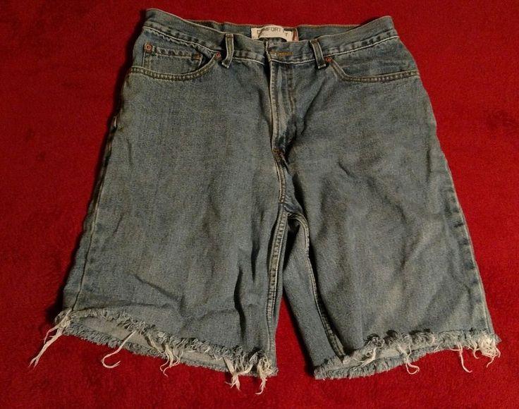 Men's Levi's 560 Comfort Fit Cutoff Jean Shorts Size 34 #Levis #Denim