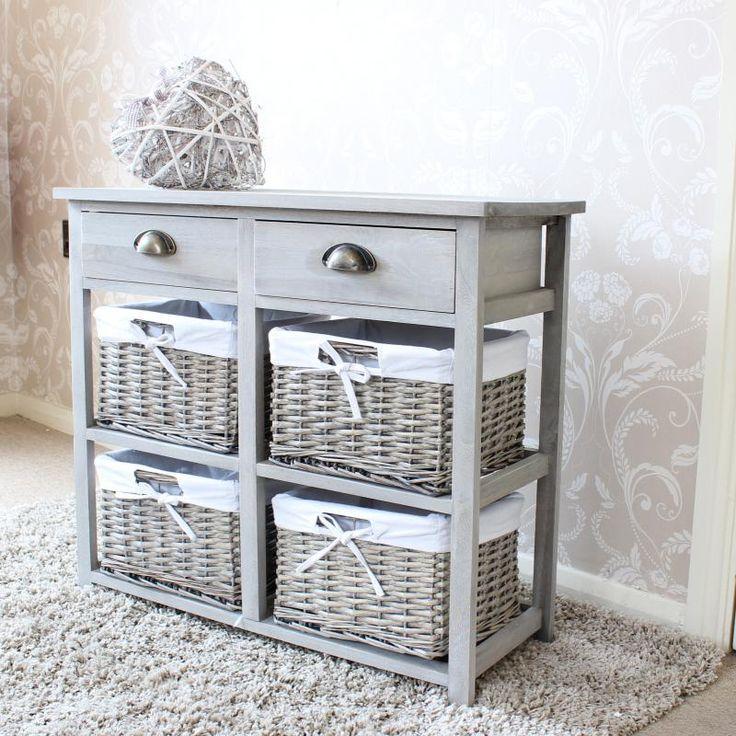 Grey Cottage Woven Storage Bins: 13 Best Wicker Storage Chest Drawers Images On Pinterest