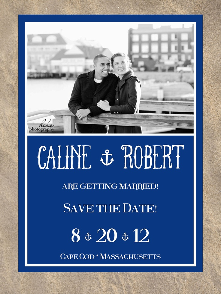 Anchor picture save the date. $1.50, via Etsy.