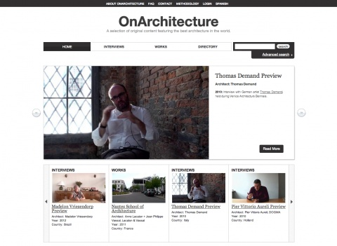 OnArchitecture.com is an online audiovisual service that provides a collection of original videos of interviews, buildings and facilities.   Leapfrog did the ​​web development of the project in Drupal 7.