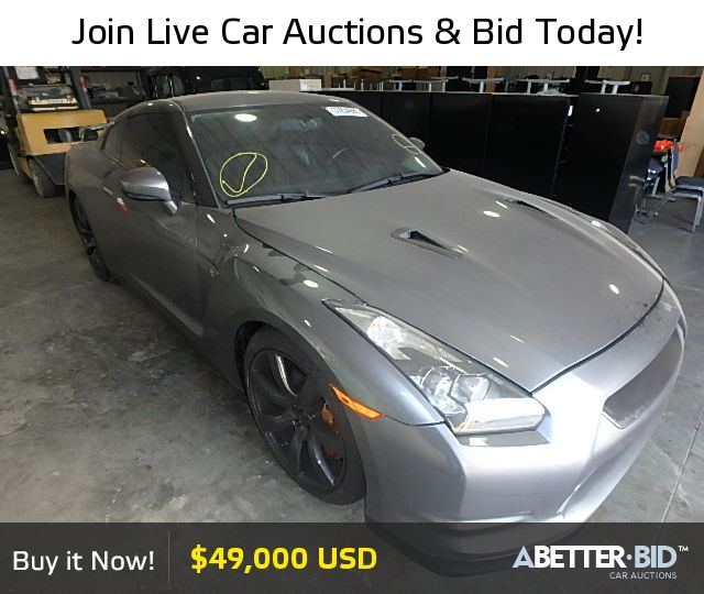 Salvage  2010 NISSAN GTR for Sale - JN1AR5EF7AM230250 - https://abetter.bid/en/37834965-2010-nissan-gtr