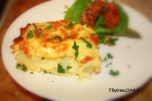 Potato and Leek Slice in thermomix