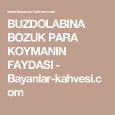 BUZDOLABINA BOZUK PARA KOYMANIN FAYDASI - Bayanlar-kahvesi.com