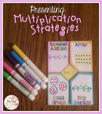 Multiplication Strategies and how to present them- come with a few freebies and teaching tips!