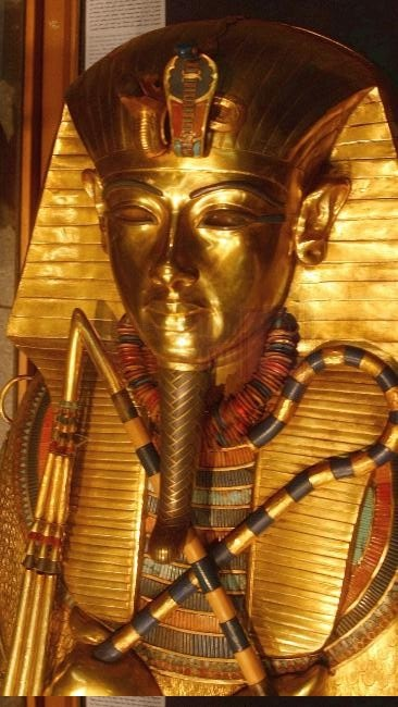 Tutankhamen Sarcophagus, Egyptian Museum.  ** I have always been fascinated by Tutankhamen and the Ancient Egyptians.