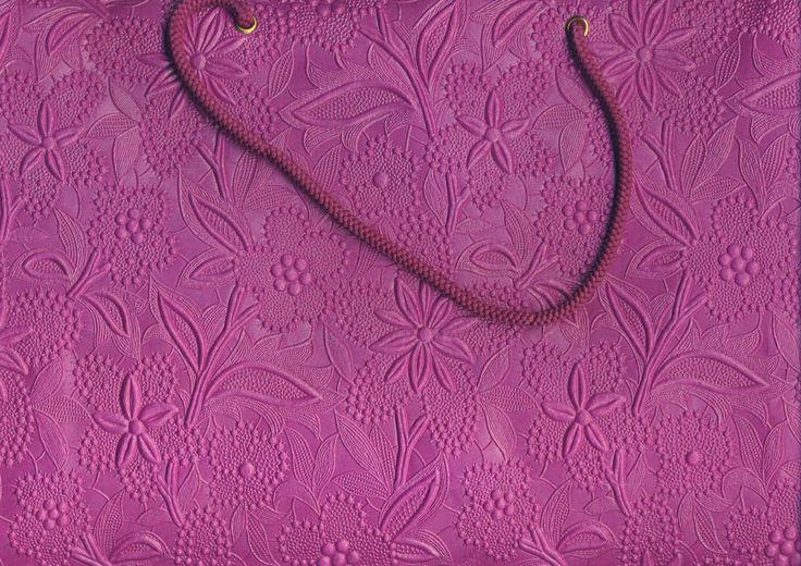 Magenta Floral Large Bag  (81)